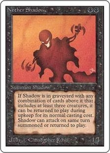 Magic the Gathering Unlimited Edition Single Card Rare Nether Shadow Slightly Played Condition