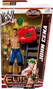 Mattel WWE Wrestling Elite Series 20 Action Figure John Cena [Hat, Dog Tags, Case & Ladder!]