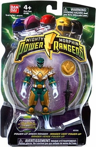 Power Rangers Mighty Morphin 4 Inch Action Figure Power Up Green Ranger [Includes Power Coin!]