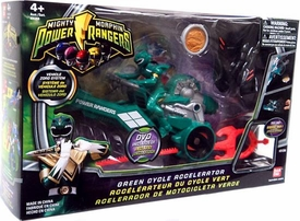 Power Rangers Mighty Morphin Vehicle Zord System Green Cycle Accelerator