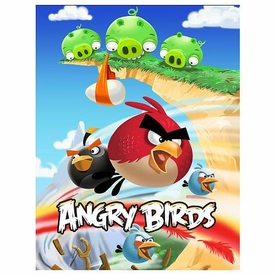 Mattel Angry Birds 24 Piece Puzzle Scene #1 Pigs on Cliff