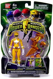Power Rangers Mighty Morphin 4 Inch Action Figure Yellow Ranger [Version 1]