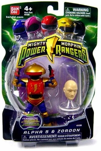 Power Rangers Mighty Morphin 4 Inch Action Figure Alpha 5 & Zordon