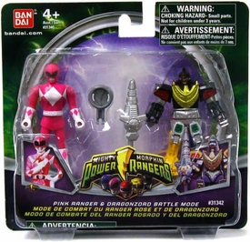 Power Rangers Mighty Morphin Mix & Morph Mini Figure 2-Pack Pink Ranger & Dragonzord Battle Mode