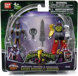 Power Rangers Mighty Morphin Mix & Morph Mini Figure 2-Pack Mercury Ranger & Megazord