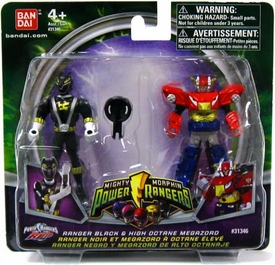 Power Rangers Mighty Morphin Mix & Morph Mini Figure 2-Pack Ranger Black & High Octane Megazord