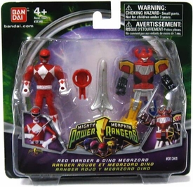 Power Rangers Mighty Morphin Mix & Morph Mini Figure 2-Pack Red Ranger & Dino Megazord