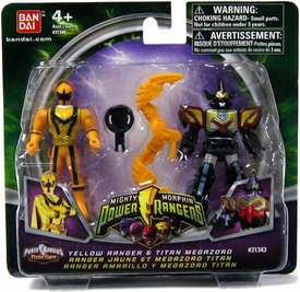 Power Rangers Mighty Morphin Mix & Morph Mini Figure 2-Pack Yellow Ranger & Titan Megazord