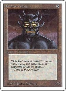 Magic the Gathering Unlimited Edition Single Card Uncommon Obsianus Golem