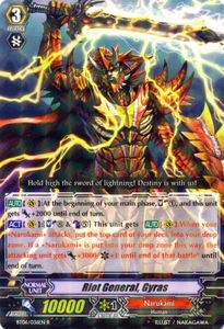 Cardfight Vanguard ENGLISH Breaker of Limits Single Card Rare BT06-036EN Riot General, Gyras