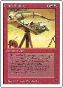 Magic the Gathering Unlimited Edition Single Card Uncommon Orcish Artillery