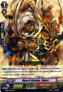 Cardfight Vanguard ENGLISH Breaker of Limits Single Card Rare BT06-039EN Desert Gunner, Raien