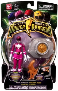 Power Rangers Mighty Morphin 4 Inch Action Figure Pink Ranger [Version 2 with Power Coin]