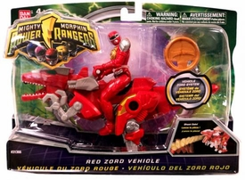 Power Rangers Mighty Morphin 4 Inch Action Figure Red Zord Vehicle