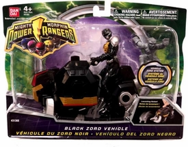 Power Rangers Mighty Morphin 4 Inch Action Figure Black Zord Vehicle