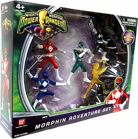 Power Rangers Action Figure 5-Pack Mighty Morphin Adventure Set [Red, Blue, Black, Green & Translucent Yellow]