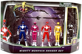 Power Rangers Mighty Morphin 4 Inch Action Figure 5-Pack Set [Blue, Pink, Red, Yellow & Black]