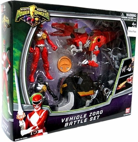Power Rangers Mighty Morphin Vehicle Zord Battle Set 2-Pack [Black & Red Ranger]