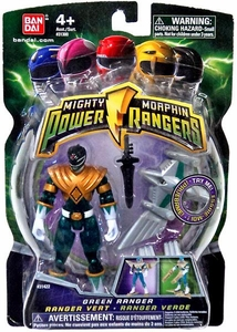 Power Rangers Mighty Morphin 4 Inch Action Figure Translucent Green Ranger