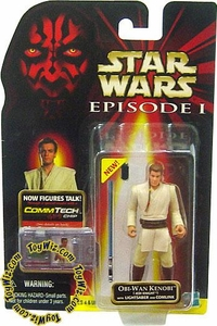 Star Wars Phantom Menace Obi-Wan Kenobi (Jedi Knight) w/ Lightsaber and Comlink