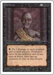 Magic the Gathering Unlimited Edition Single Card Common Pestilence