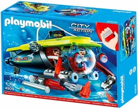 Playmobil City Action Set #4909 Deep Sea Submarine & Underwater Motor
