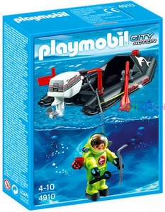 Playmobil City Action Set #4910  Dinghy & Diver
