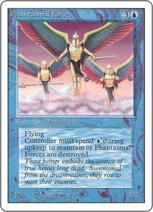 Magic the Gathering Unlimited Edition Single Card Uncommon Phantasmal Forces