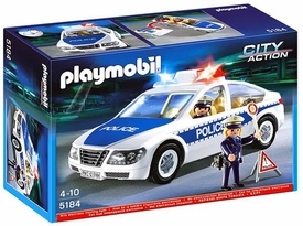 Playmobil City Action Set #5184 Police Car & Flashing Light