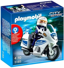 Playmobil City Action Set #5185 Police Motorcycle