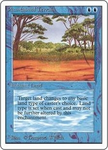 Magic the Gathering Unlimited Edition Single Card Common Phantasmal Terrain