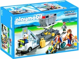 Playmobil City Action Set #5262 Aircraft Stairs, Passengers & Cargo