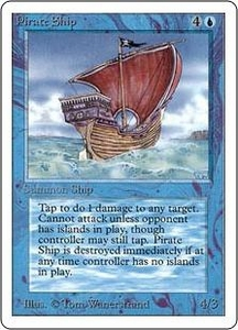 Magic the Gathering Unlimited Edition Single Card Rare Pirate Ship