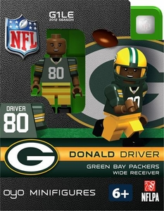 OYO Football NFL Building Brick Minifigure Donald Driver [Green Bay Packers]