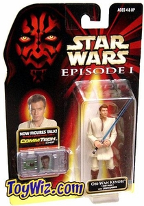 Star Wars Phantom Menace Obi-Wan Kenobi [Jedi Duel with Lightsaber]