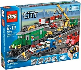 LEGO City Set #7898 Cargo Train Deluxe Damaged Package, Mint Contents!
