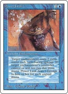 Magic the Gathering Unlimited Edition Single Card Common Power Leak