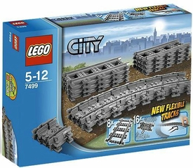 LEGO City Set #7499 Flexible & Straight Tracks