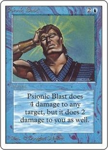 Magic the Gathering Unlimited Edition Single Card Uncommon Psionic Blast