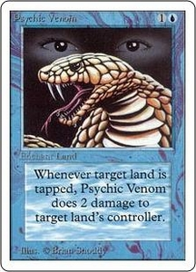 Magic the Gathering Unlimited Edition Single Card Common Psychic Venom