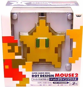 Super Mario Brothers BanPresto Cord Computer Mouse Star