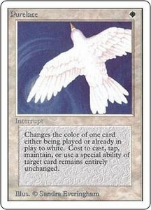 Magic the Gathering Unlimited Edition Single Card Rare Purelace