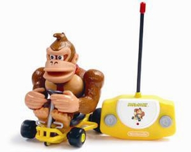 Super Mario Brothers Mario Kart Remote Control Donkey Kong Damaged Package, Mint Contents!