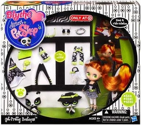 Littlest Pet Shop Blythe's Black & White Collection Exclusive Playset Get Pretty Boutique