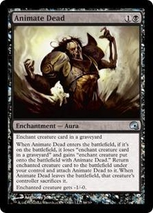Magic the Gathering Premium Deck Series: Graveborn Single Card Black Uncommon #16 Animate Dead
