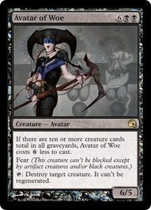 Magic the Gathering Premium Deck Series: Graveborn Single Card Black Rare #6 Avatar of Woe