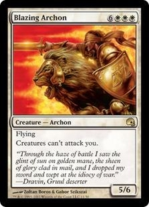 Magic the Gathering Premium Deck Series: Graveborn Single Card White Rare #11 Blazing Archon