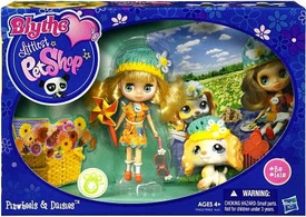 Littlest Pet Shop Blythe's Sitters Set Pinwheels & Daisies [Includes Dog]