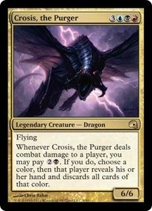 Magic the Gathering Premium Deck Series: Graveborn Single Card Gold Rare #5 Crosis, the Purger