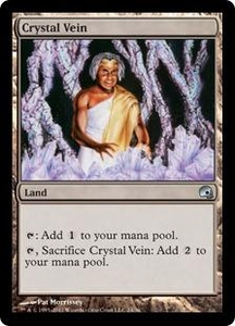 Magic the Gathering Premium Deck Series: Graveborn Single Card Land Uncommon #24 Crystal Vein